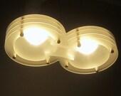 Hanging LED based ceiling light