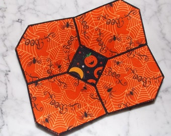 Boo Pumpkin Halloween Candy Fabric Bowl
