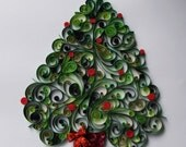 "Quilled Christmas Tree 12""x 12"" unframed"