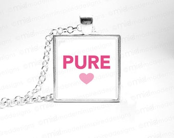 Pure Heart Necklace - Vow of Purity - Purity Ceremony Gift - Worth the Wait Necklace - Purity Ceremony Gift - Faith Gift - Abstinence Gift
