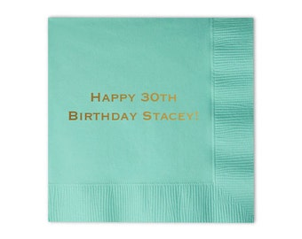 Personalized 30th Birthday Napkins