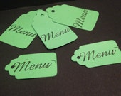 Assorted Menu tea party paper tags for favors and gifting
