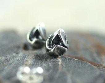 Sterling Stud Earrings Rosebuds. Posts in Recycled Silver