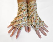 Snowflake Fingerless Mittens, Multicolor Open Mitts, Texting Mittens, Whipped Fingerless Gloves, Wrist Warmers, Arm Warmers, Fingerless Mitt