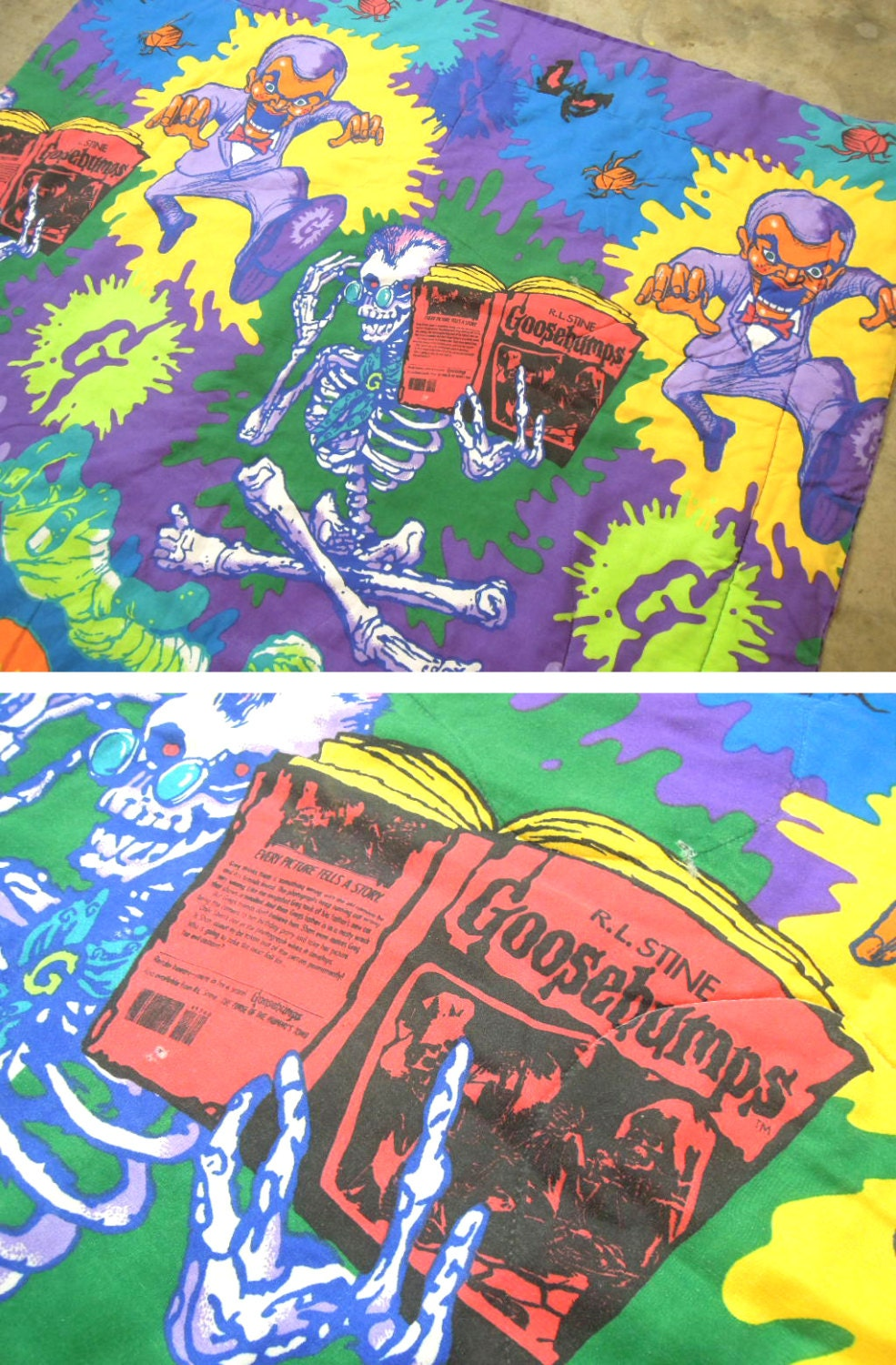 90s Goosebumps Blanket Twin Sized Filled By Uptownhandyranch