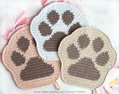 052 Paw decor, potholder or small pillow - Amigurumi Crochet Pattern - PDF file by Zabelina Etsy