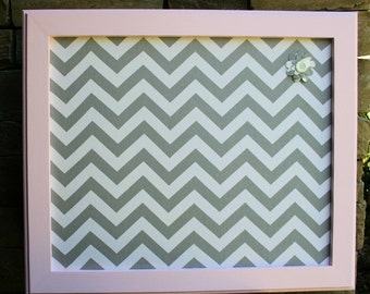 """18""""x22"""" Pink Frame with Fabric Cork Board"""