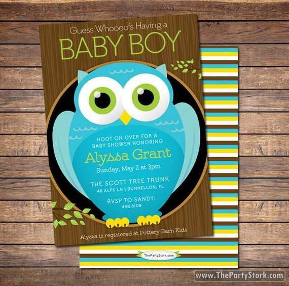 Owl baby shower invitation printable boy invite free back more il570xn filmwisefo Image collections