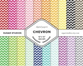 Chevron 20 Piece Digital Scrapbook Mega Paper Pack - Personal and Commercial Use - INSTANT DOWNLOAD