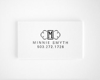 Unique Letterpress Calling Cards - Monogram Business Cards - Black and White - Letterkast