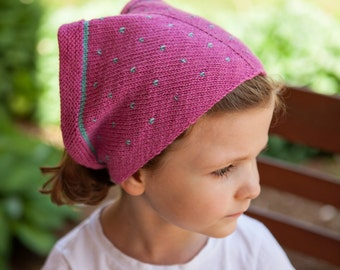 Radishes and Rosebuds (kerchief knitting pattern)