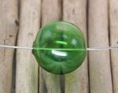 Large Hollow Hand Blown Round Glass Beads 25mm (4) Green Big Lightweight