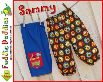 Super Quick & Easy Boy's Pants Pattern. Baby Pants Pattern. Infant Pants Pattern, Boy's Sewing Pattern. Infant Sewing Pattern. NB-24months.