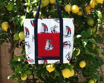 Nautical Themed Designed Tote
