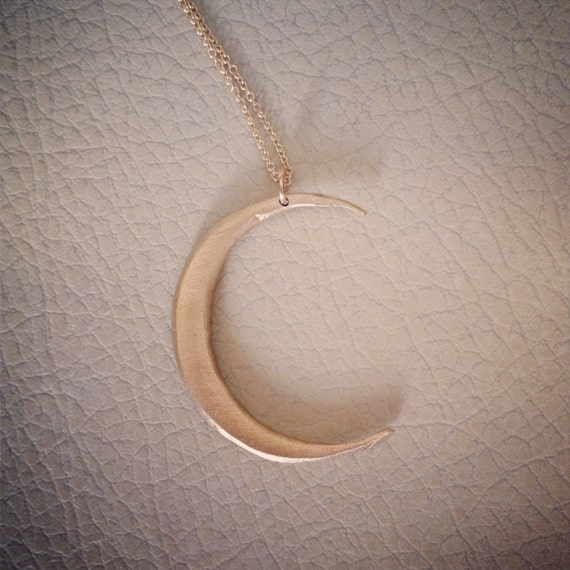 Crescent Moon in bronze and gold