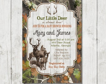 hunting baby boy shower invitations hunting baby shower etsy