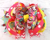 5 inch Hello Kitty Hair Bow