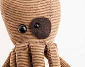 Recycled Corduroy Brown Octopus