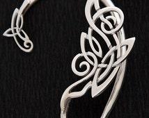 Silver ear cuff | Celtic ear cuff | Ornamental ear cuff | Celtic Mists