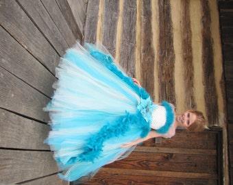 Turquoise flower girl dress – Etsy