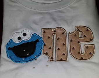 Cookie Monster ONE Birthday Shirt