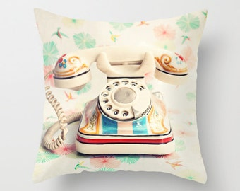 SALE,Pillow cover, nursery art, nursery decor, red pillow, coral pillow, french decor, dorm decor, office decor, white pillow, mint pillows