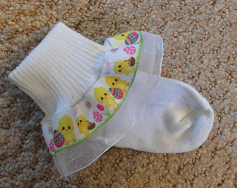 Super cute Easter Bunny Ruffle Socks