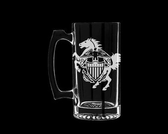 Navy Mustang Beer Mug Personalized ldo limited duty officer