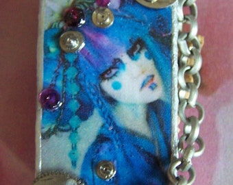 "Brooch Steampunk""Fashion Geisha"" by Stampchrys"