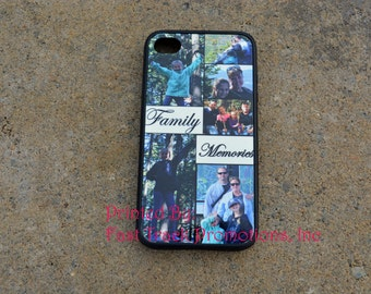 Photo Collage Phone Case to fit iPhone 4, iPhone 5s, iPhone 5c, or iPhone 5,iPhone 6 Great for Birthday Gifts