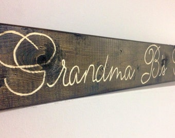 Custom Engraved Wood Sign