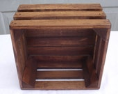 Reclaimed Wooden Storage Crate With English Chestnut Finish, Wedding Decor, Home Decor, Kitchen Decor