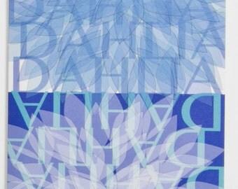 Blue Dahlia Greeting Card, Design #4