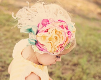 Baby Girl Headband- Baby Headband- Flower Girl Headband- Mustard Pie- Persnickety Headband- Matilda Jane Headband