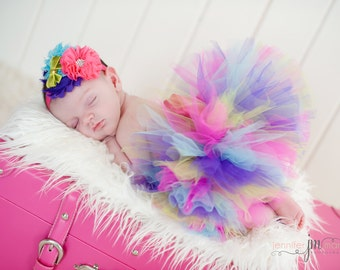 BIRTHDAY GIRL SET, Newborn Tutu, Baby Tutu, Infant Tutu, Newborn Photography Prop, Photo Prop, Tutus for Children, Birthday Tutu