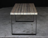 8' original industrial modern dining table