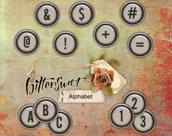 Bittersweet Alphabet Set - Digital Scrapbooking