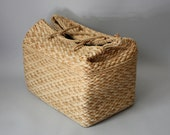 Large Rectangle Basket Tote Bag Box Purse