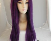 ON SALE // Dark Purple / Long Straight Layered Wig - Thick Beautiful Luscious Hair, Purple Wig, Cosplay Wig, Costume Wig
