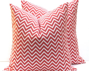 Decorative Pillow Cover Coral Pillow Chevron Pillow Case Decorative Throw Pillows 18x18 Pillow Cover Print both sides Cushion Covers
