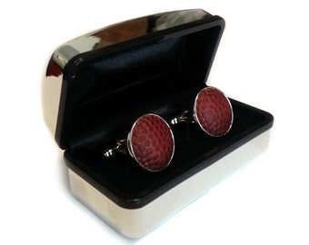Game Played Football Cufflinks - Handmade cuff links from a used football