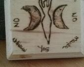 Handmade Wood Goddess Pendulum Dowsing Board