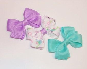 Baby Hair Bows, Pastel Hair Bow, Small Hair Bows, Spring, Toddler Hair Bow, Set of 3 Girls Hair Bows