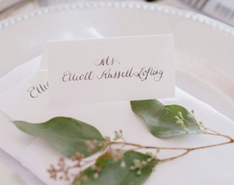 Custom Calligraphy Wedding Place Cards or Escort Cards for Guest Names