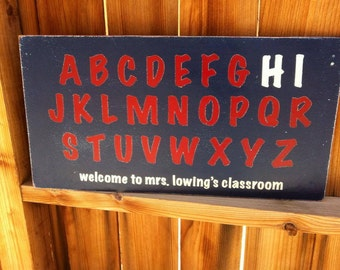 12x24 Alphabet Teacher Sign
