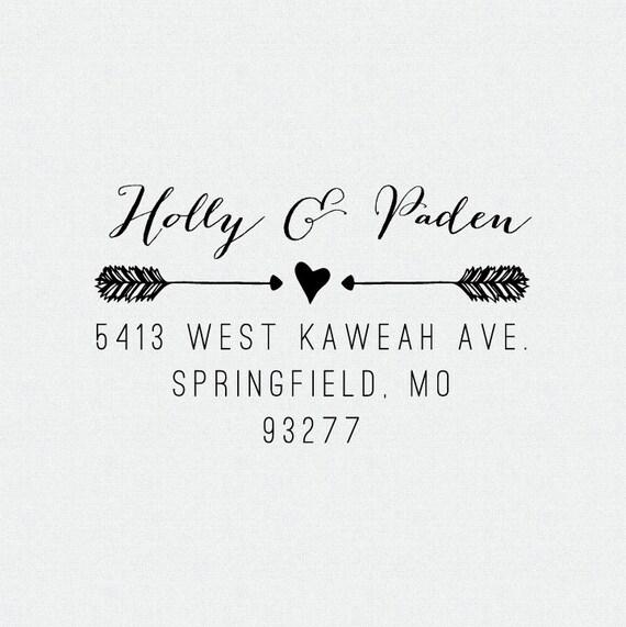 Personalized return address stamp self inking stamp wedding present