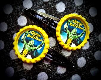 The Creature hair clips