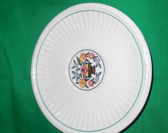 """One (1), 5 1/4"""" Tea Cup Saucer, from Wedgwood, in the Trentham Green, A6776 Pattern."""