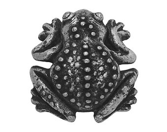 Frog 7/8 inch ( 23 mm ) Pewter Metal Button