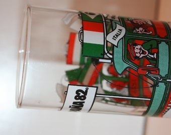 Vintage McDonalds Espana 1982 Naranjito World Cup Soccer Glass, Features Italy, Brazil, Algeria, Kuwait, Cameroon, Collectible, Collector